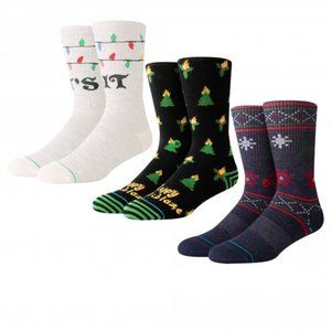 Stance Tis The Seasons Christmas Socks 3 Pairs NIB